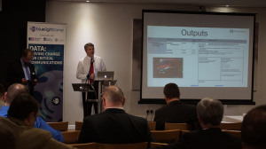 David Patterson presenting WUDOWUD at British APCO's Autumn event