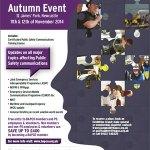 Poster for British APCO's Autumn event