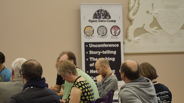 """Open Data Camp, 21 - 22 Feb 2015 Winchester: Unconference. Image by <a href=""""https://www.flickr.com/photos/sashataylor/with/15987877744/"""">Sasha Taylor</a> via Flickr."""