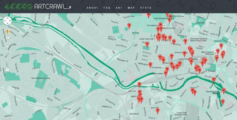 The Leeds Art Crawl Map