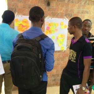 Participants documenting their interests and challenges.