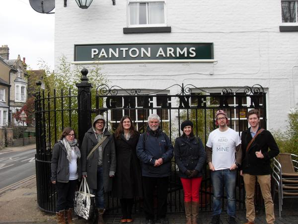 The Content Mine Team at the Panton Arms in Cambridge