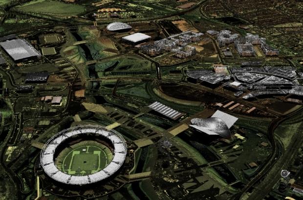 Olympic Park - point cloud LIDAR alt