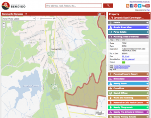 Screenshot from teh Bendigo Community Compass